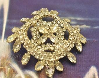 Antique Rhinestone Pin Brooch