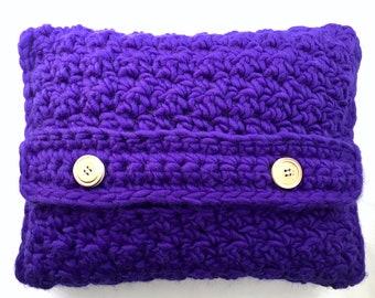 Ultra Violet Crochet Pillow