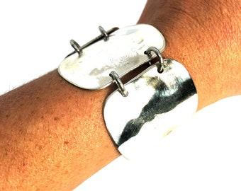 Vintage spoon bracelet, silverware jewelry
