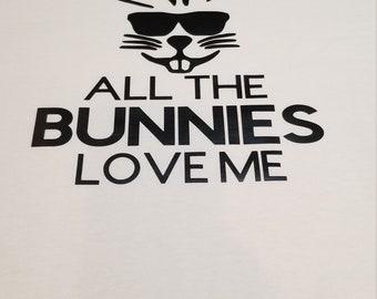 All The Bunnies Love Me kids T-shirt