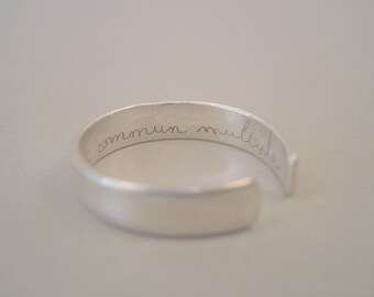 ring silver engraved