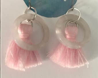 Pink Tassel Dangle