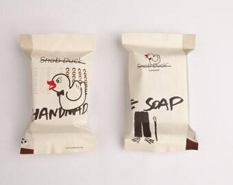 Snob Duck Coconut Handmade Soap: With coconut oil, olive oil, cocoa butter, coconut milk.