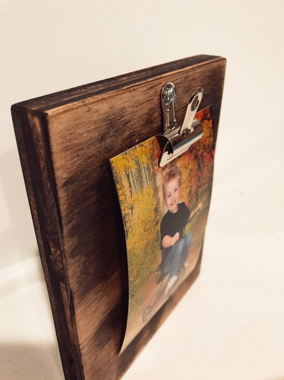 Aufgearbeiteten Holz Foto-Halter Holz Bilderrahmen