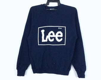 Vintage Retro 80s 90s Lee Sweatshirt Large Size Made in USA