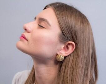 Rope Earrings / Vintage 80s Earrings / Bold Statement Earrings / Costume Jewelry / Fashion Earrings / Geometric Earrings
