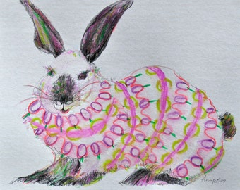 Easter Inky greeting card