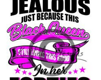 Black Queen Svg, Queen Svg, Don't Be Jealous Svg, Dxf For Cameo, T Shirt Screen Printing Design