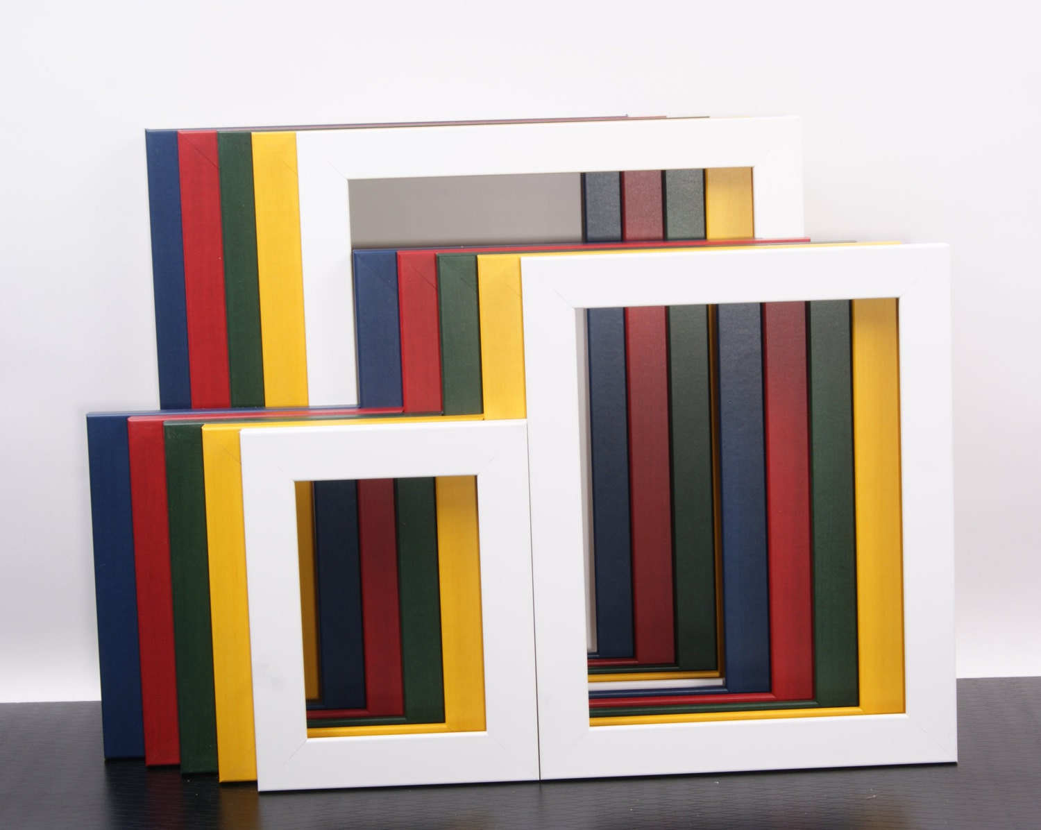 4x4 24x24 Red Blue Green Yellow White Frames For Art