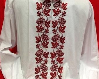 Men's vyshyvanka for men/Shirt for adult men/shirts for men/Ukrainian shirt/Made in Ukraine/mens gift/Ethnic 100%/shirts with Long sleeves Mh3ubx6uvr