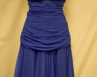 Vintage Lillie Rubin Formal Party Dress 1980's Size 4