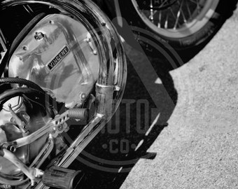 Vintage Motorcycle Photo - Big Sid's Vincati Vincent/Ducati