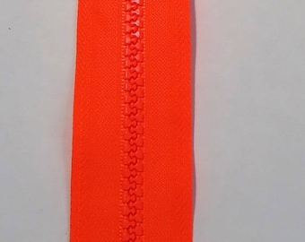 Orange neon zipper 20 cm