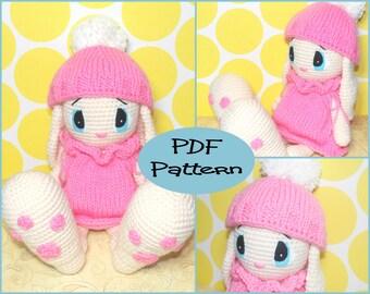 PDF Pattern - Rabbit Crochet Pattern, Knitting Pattern, Amigurumi Pattern, Easter Bunny, Rabbit Plush, Bunny Plushie, Crochet Plushie,