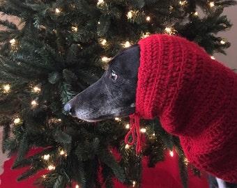 Crocheted Greyhound Snood