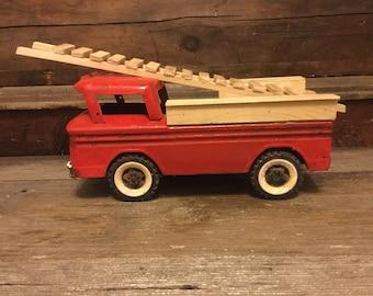 Vintage Metal Toy Truck Stutco Fire Truck