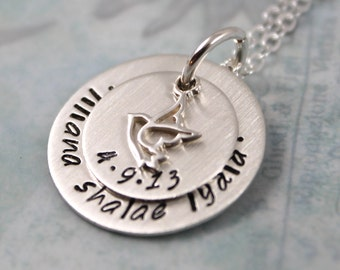 Baptism Gift, confirmation gift, mother gift, womens gift her, personalized necklace, personalized gift, custom hand stamped