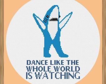 Left Shark Cross Stitch Pattern (Superbowl Cross Stitch Pdf) PDF Download