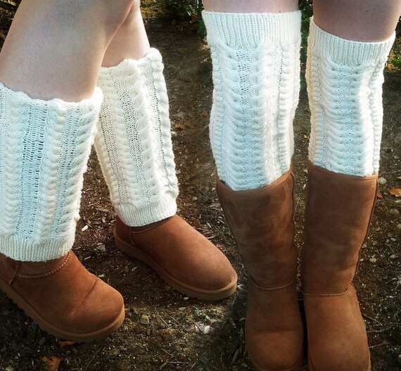 Knitting Pattern Multi Way Classic Cabled Legwarmers Boot