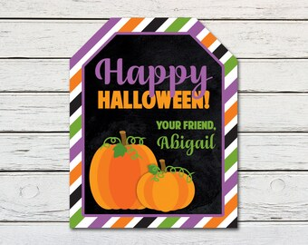 Halloween Printable Favor Treat Gift Tag (PDF File only)