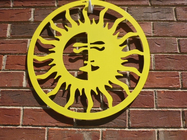 Outdoor Metal Art- Sun Moon, Outdoor Art, Pool Art, Custom Metal Art ...