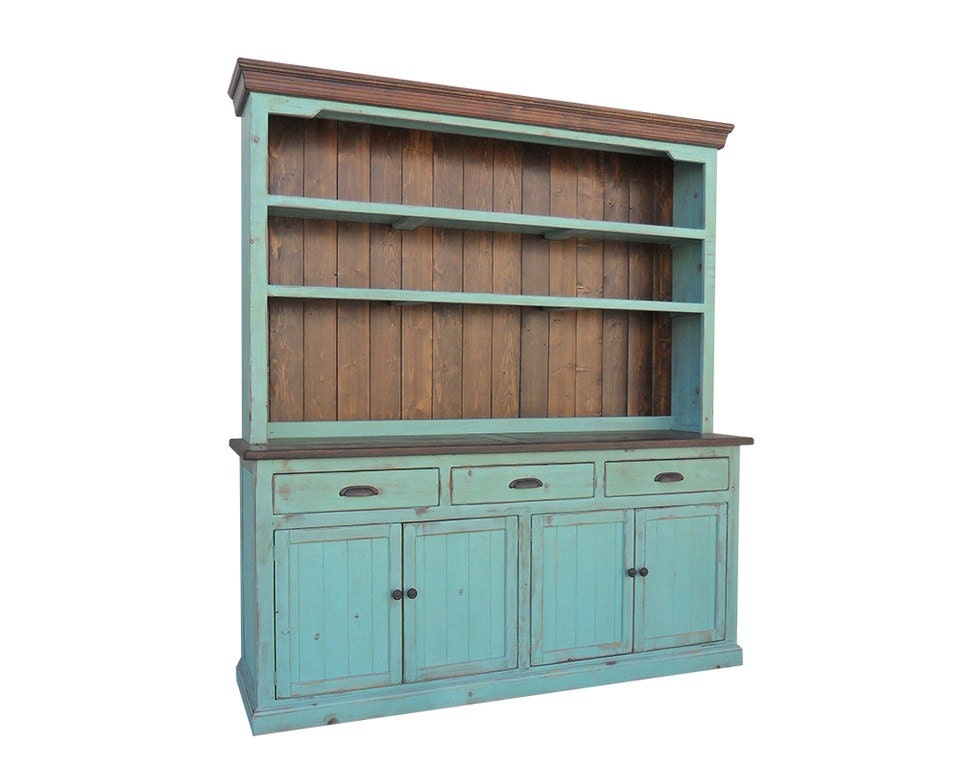 Hutch And Buffet Sideboard Farmhouse Reclaimed Wood China