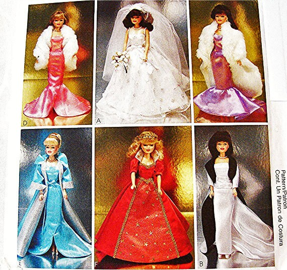 Barbie Doll Clothes Pattern Barbie Formal Gowns Dresses Wrap