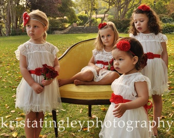 The ORIGINAL Olivia White Flower Girl Lace Dress, made for girls, toddlers, infants, ages 2T,3T,4T,5T