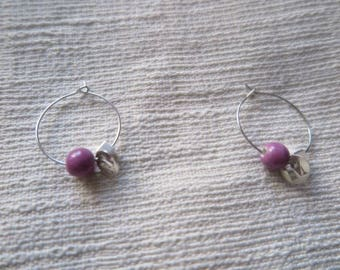 ISOTTA - earrings in silver with custom initial ring