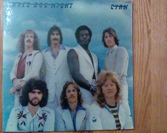 Vintage 1973 Three Dog Night Cyan Vinyl Record Album Shambala Happy Song