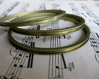 1 PC Raw brass channel bangle bracelet for 14pp rhinestone chain - B750