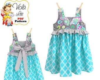 Girls Summer Dresses. Girls Dresses, pdf. Girls Top Pattern. Girls dress pdf patterns, Toddler Top, PDF Sewing Pattern. Download Carla