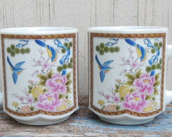 Pair of Pretty Vintage Mugs!