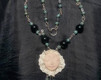Face Pendant Necklace