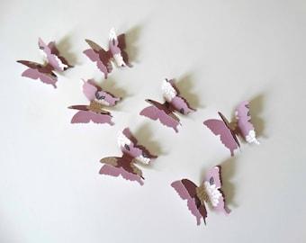 3D Paper Butterflies, layered butterflies, bridal shower decor, birthday party accent, garden party decor, butterfly wall art