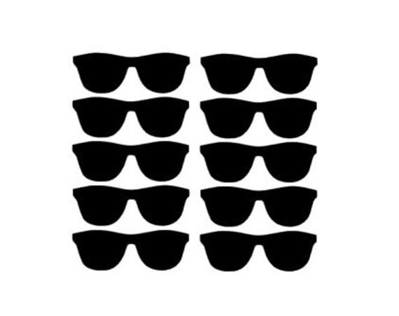 Sunglasses vinyl stickers baby shower decor gender reveal