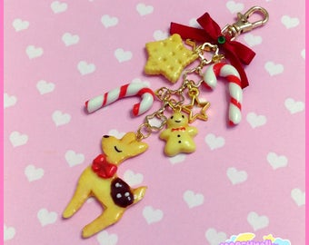 Christmas sweets keychain charm cute and kawaii