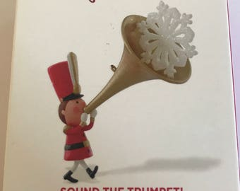 Hallmark keepsake ornament, sound the trumpet! Hallmark ornament