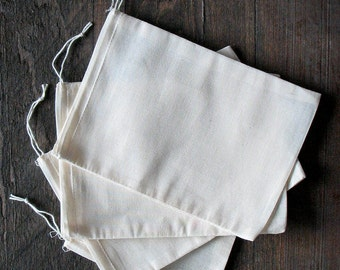 300 count 5x7 inch Natural Cotton Muslin Drawstring Bags Priority Shipping