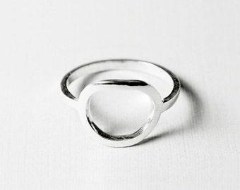 Circle Ring - Minimalist Circle Ring - Open Circle Ring - Geometric Ring - Minimalist Jewelry - Minimalist Stacking Ring