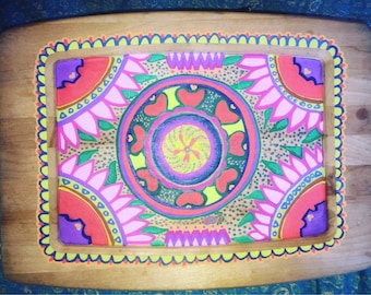 Handpainted Wood Platter
