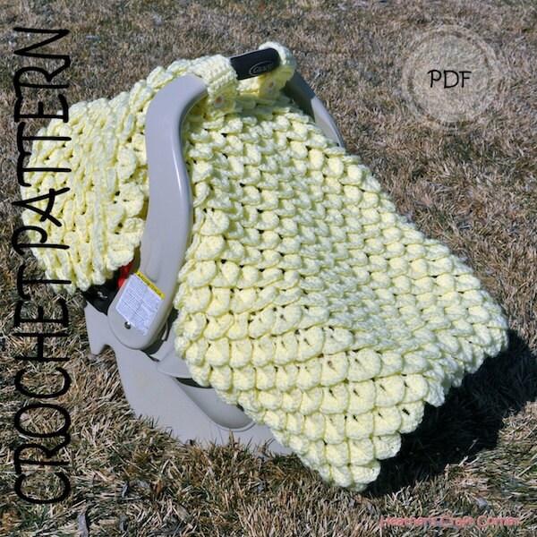 Crochet Pattern Crocodile Stitch Car Seat Canopy Blanket Uk