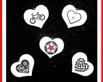 Cycling wooden heart decoration. Gift for him, gift for her, achievement gift. Cyclist, bike.