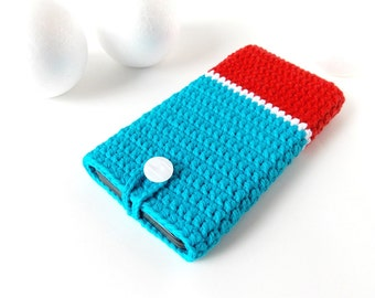 Blue Red Moto G3 phone case, Galaxy s8 case, Xperia z5 pouch, Pixel 2 cozy, iphone 8 sock, BlackBerry cover, OnePlus X sleeve, HTC 10 case