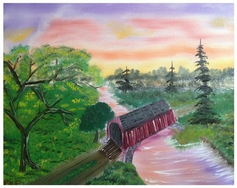 Cotton Candy Covered Bridge