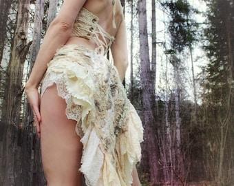 Divine Goddess Bustle / bridal / alternative wedding / unique ooak
