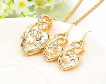 Fashion Necklace And Earring Jewelry Set.