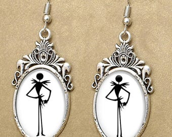 Jack Silhouette Drop Earrings
