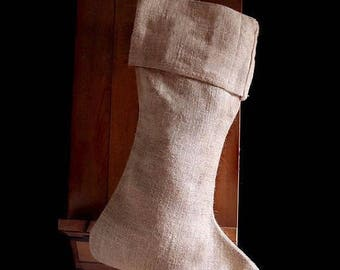 Pack of 8 - Natural Burlap Christmas Stocking 24 inch - Free Shipping