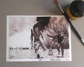 Run-InkTober 2017-Signed Art Print Limited edition 10 units